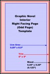 Graphic Novel, Odd Pages Template
